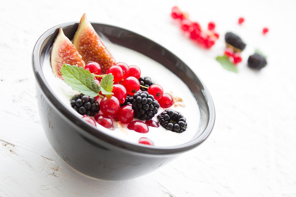 Yogurt, Berries, Fig, Fruits, Breakfast, Healthy, Fruit