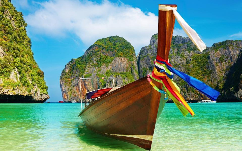 Bay, Beach, Boat, Exotic, Idyllic, Island, Lagoon